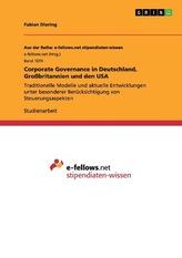 Corporate Governance in Deutschland, Großbritannien und den USA