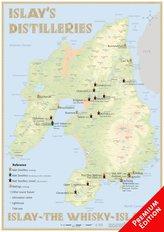 Whisky Distilleries Islay - Poster 42x60cm - Premium Edition