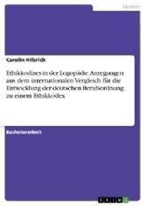 Ethikkodizes in der Logopädie. Anregungen aus dem internationalen Vergleich für die Entwicklung der deutschen Berufsordnung zu e