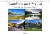 Tannheim und das Tal (Tischkalender 2020 DIN A5 quer)