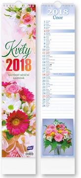 Květiny vázanka 2018 - nástěnný kalendář