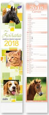 Zvířata vázanka 2018 - nástěnný kalendář