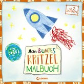 Mein buntes Kritzel-Malbuch (Rakete)