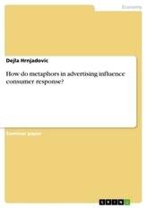 How do metaphors in advertising influence consumer response?