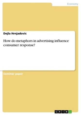 How do metaphors in advertising influence consumer response?