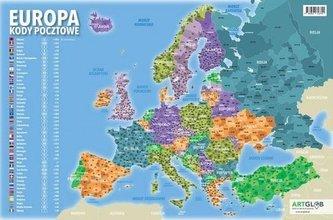Podkładka na biurko - kody pocztowe Europa