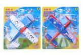 Letadlo na natáhnutí pěna 22x26cm 3 barvy na kartě