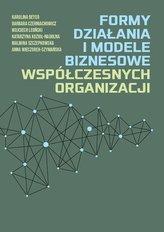 Formy działania i modele biznesowe...