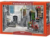 Puzzle 500 Uroczy zaułek z czerwonym rowerem CASTO