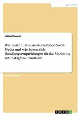 Wie nutzen Fitnessunternehmen Social Media und wie lassen sich Handlungsempfehlungen für das Marketing auf Instagram ermitteln?