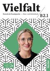 Vielfalt B2.1 Kurs und Arbeitsbuch + App HUEBER