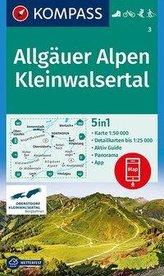 KOMPASS Wanderkarte Allgäuer Alpen, Kleinwalsertal 1:50000
