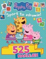 Peppa Pig 525 Naklejek - Sport to zdrowie