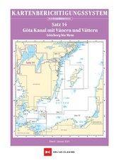 Berichtigung Sportbootkarten Satz 14: Götakanal mit Vänern und Vättern (Ausgabe 2021)