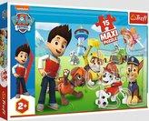 Puzzle 15 maxi Zabawny Psi Patrol TREFL