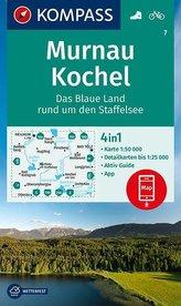 KOMPASS Wanderkarte Murnau - Kochel - Das blaue Land rund um den Staffelsee 1:50 000