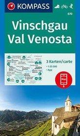 KOMPASS Wanderkarte Vinschgau, Val Venosta 1:25 000