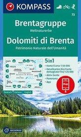 KOMPASS Wanderkarte Brentagruppe, Weltnaturerbe, Dolomiti di Brenta 1:50 000