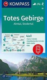 KOMPASS Wanderkarte Totes Gebirge, Almtal, Stodertal 1:50 000
