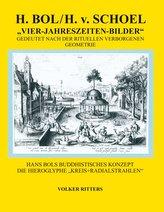 H. Bol / H.v.Schoel >Die vier Jahreszeiten - Bilder<  gedeutet nach der rituellen verborgenen Geometrie