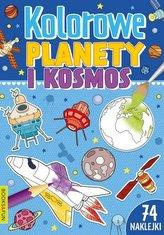 Kolorowe planety i kosmos z naklejkami