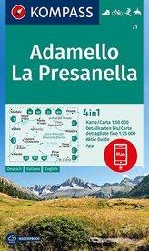KOMPASS Wanderkarte Adamello, La Presanella 1:50 000
