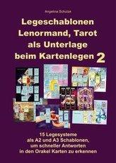 Legeschablonen Lenormand, Tarot als Unterlage beim Kartenlegen 2