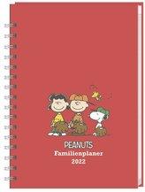 Peanuts Familienplaner Buch A5 - Kalender 2022