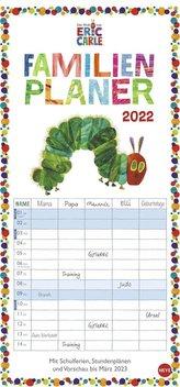 Die kleine Raupe Nimmersatt Familienplaner Kalender 2022