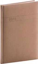 Diář 2018 - Vivella - týdenní, A5, hnědý, 15 x 21 cm