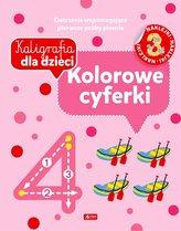 Kaligrafia dla dzieci. Kolorowe cyferki