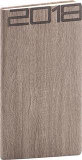 Diář 2018 - Forest - kapesní, hnědý, 9 x 15,5 cm