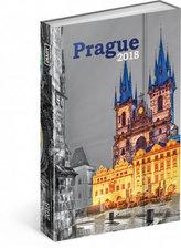 Diář 2018 - Praha, týdenní magnetický, 10,5 x 15,8 cm