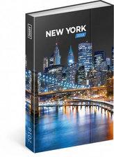 Diář 2018 - New York, týdenní magnetický, 10,5 x 15,8 cm