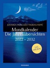 Mondkalender - die Jahresübersichten 2022-2029
