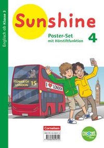 Sunshine 4. Schuljahr. Zu allen Ausgaben - Poster-Set mit Bookii-Funktion und Beilage
