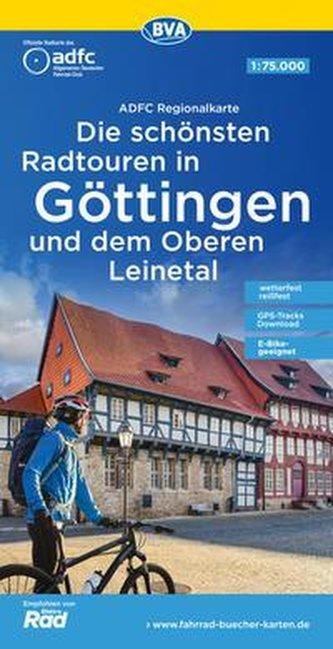 ADFC-Regionalkarte Die schönsten Radtouren in Göttingen und dem Oberen Leinetal 1:75.000