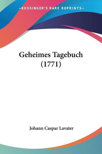 Geheimes Tagebuch (1771)