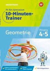 Fit fürs Gymnasium - 10-Minuten-Trainer. Übergang 4 / 5 Mathematik Geometrie