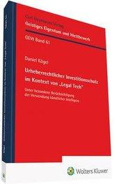 """Urheberrechtlicher Investitionsschutz im Kontext von \""""Legal Tech\"""""""