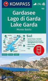 KOMPASS Wanderkarte Gardasee, Lago di Garda, Lake Garda, Monte Baldo 1:50 000