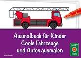 Ausmalbuch für Kinder - Coole Fahrzeuge und Autos ausmalen