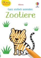 Kleine Kreativ-Werkstatt - Ganz einfach ausmalen: Zootiere