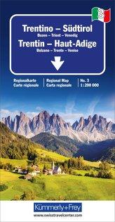 KuF Italien Regionalkarte 03. Trentino / Südtirol 1 : 200 000