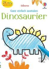 Kleine Kreativ-Werkstatt - Ganz einfach ausmalen: Dinosaurier