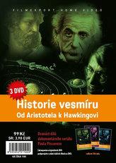 Historie vesmíru: Od Aristotela k Hawkingovi - 3 DVD v papírové pošetce s letákem