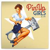 Kalendář poznámkový 2018 - Pin-up Girls, 30 x 30 cm