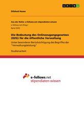 Die Bedeutung des Onlinezugangsgesetzes (OZG) für die öffentliche Verwaltung