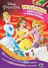 Princezny - Kniha samolepek a omalovánek