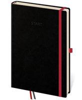 Diář 2018 - Start 365/Motivační deník černý s gumičkou a poutkem na propisku